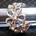 Korea crystal imitation pearl ear clip earrings