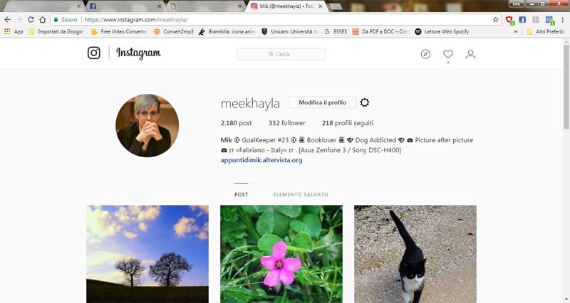 post instagram sul blog