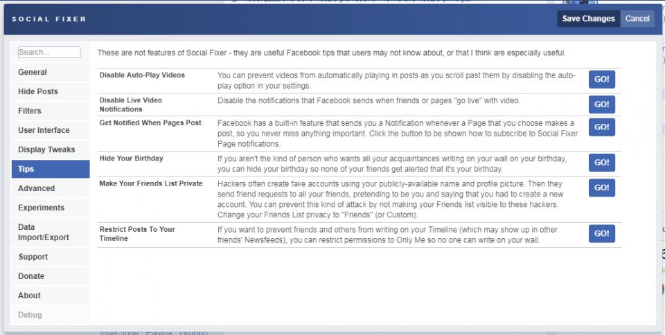 Social Fixer Tab tips
