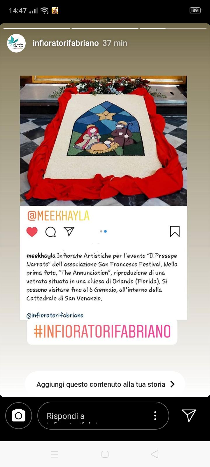 Infiorata Artistica per il Natale 2019 di Fabriano