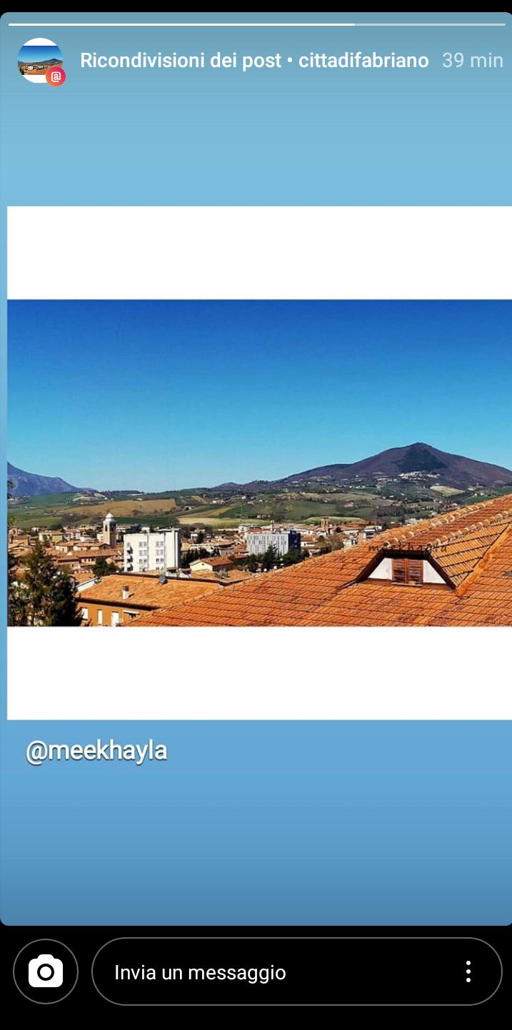 [Foto] ☀️ Allungare lo sguardo verso il centro di Fabriano ☀️
