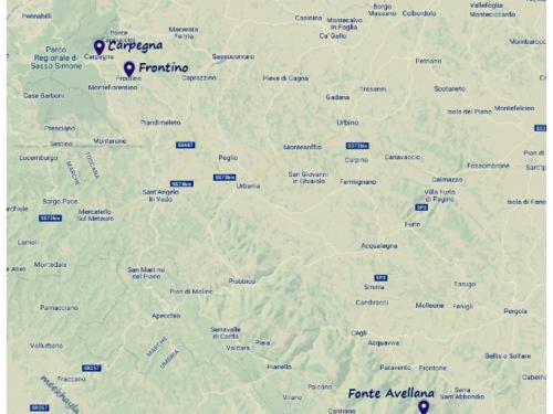 Frontino, Carpegna, Fonte Avellana